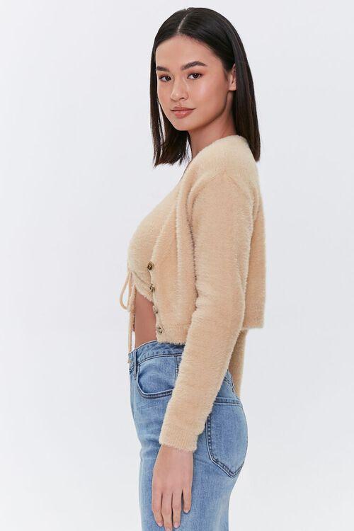 Fuzzy Cardigan Sweater, image 2