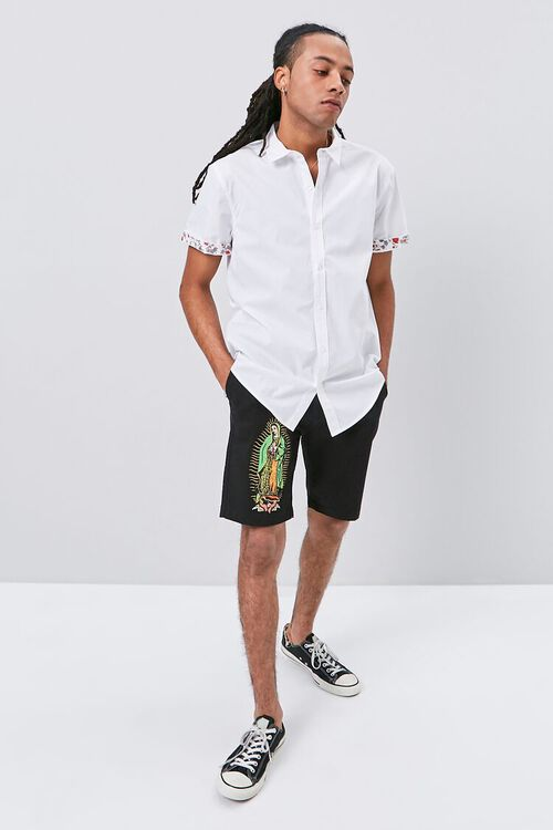 Floral-Trim Fitted Shirt, image 4