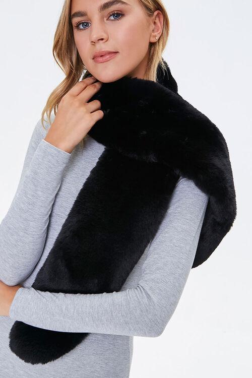 Plush Faux Fur Oblong Scarf, image 1