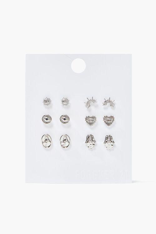 Sun Charm Stud Earring Set, image 1