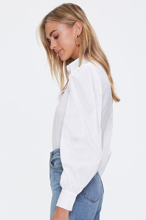 Balloon-Sleeve Shirt Bodysuit, image 2