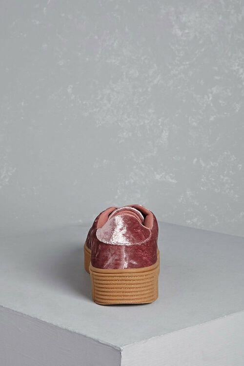 Crushed Velvet Platform Sneakers, image 3