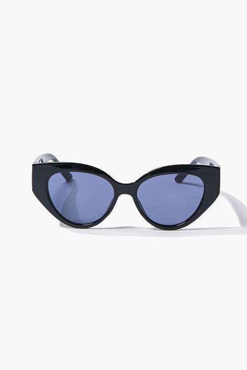 BLACK/BLACK Tinted Cat-Eye Sunglasses, image 3