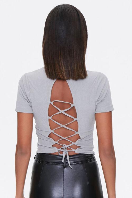 Ribbed Lace-Back Tee, image 5