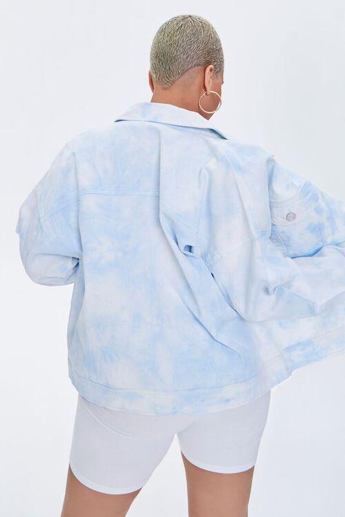 Plus Size Cloud Wash Denim Jacket, image 3