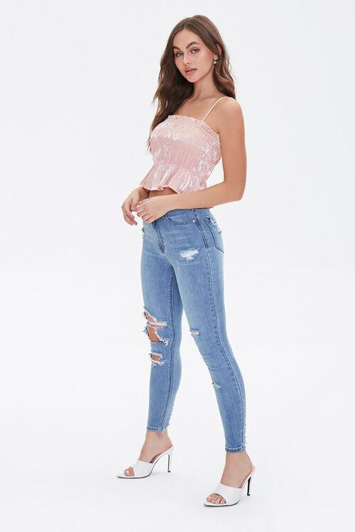 MEDIUM DENIM Curvy Fit High-Rise Jeans, image 1