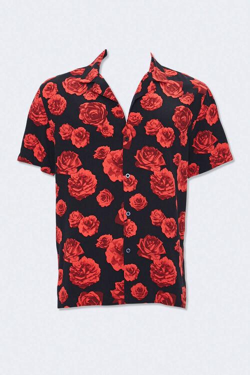 Rose Print Cuban Collar Shirt, image 3