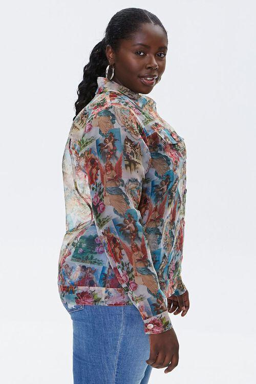 Plus Size Organza Cherub Shirt, image 2