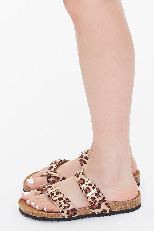 Buckled Leopard Print Flatform Sandals, image 2