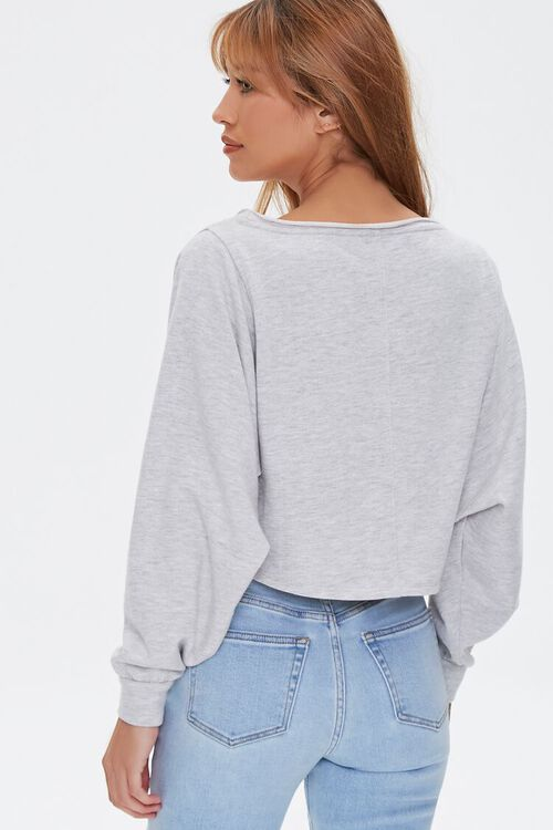HEATHER GREY French Terry Pullover, image 4