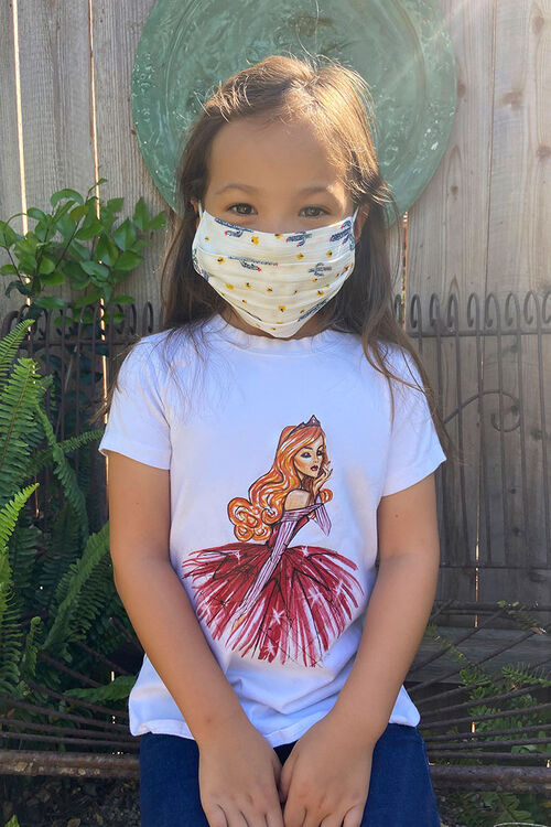 Girls Printed Face Mask (Kids), image 2