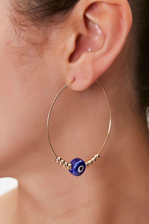 Eye Charm Hoop Earrings, image 1