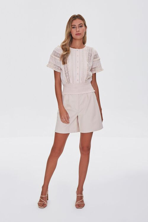 Lace-Trim Pintucked Top, image 4