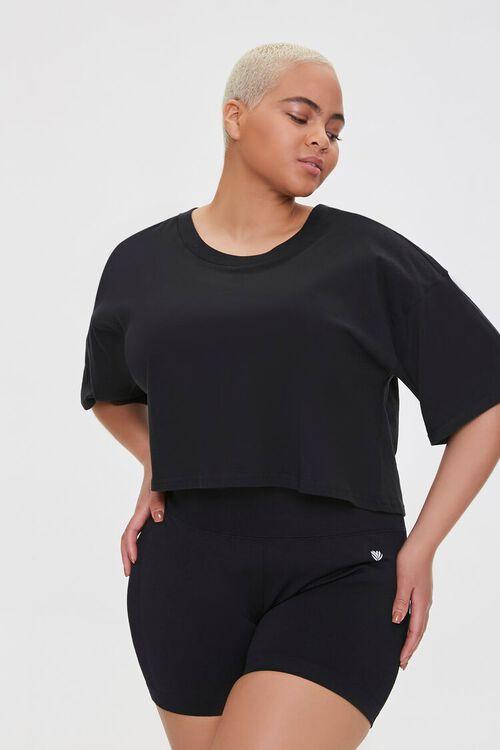 Plus Size Active Shorts, image 1