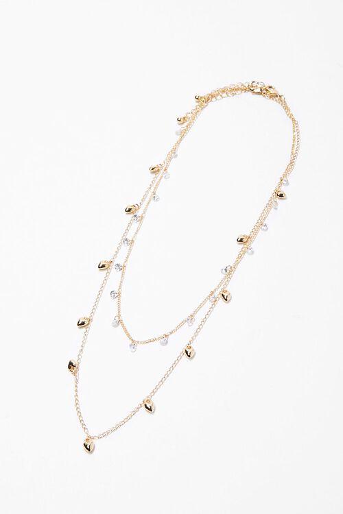CZ Stone Heart Necklace Set, image 3