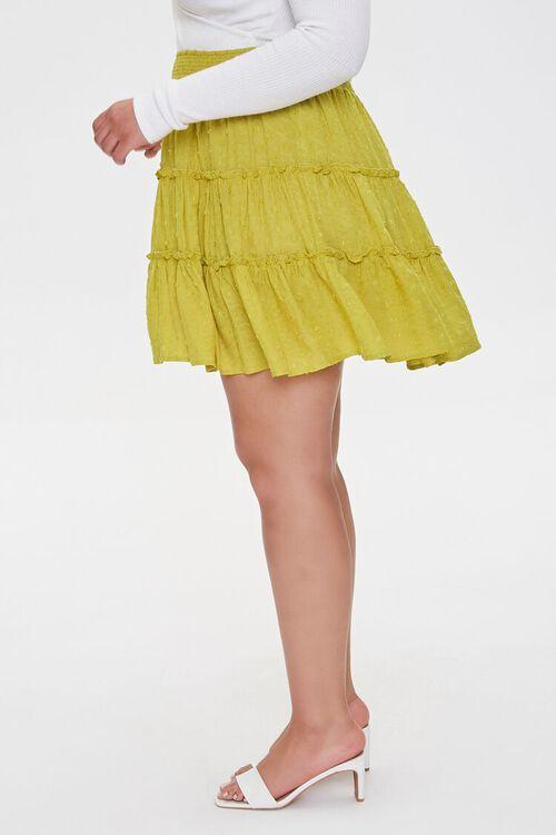 Plus Size Clip Dot Mini Skirt, image 3