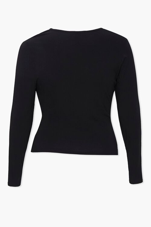 Plus Ruched Long-Sleeve Top, image 2