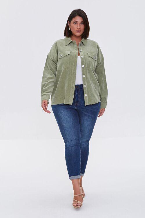 Plus Size Corduroy Jacket, image 4