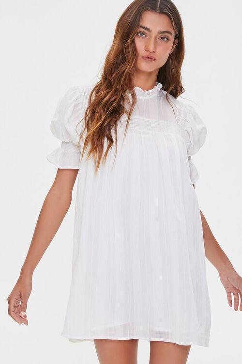 Ruffled Puff Sleeve Dress, image 1