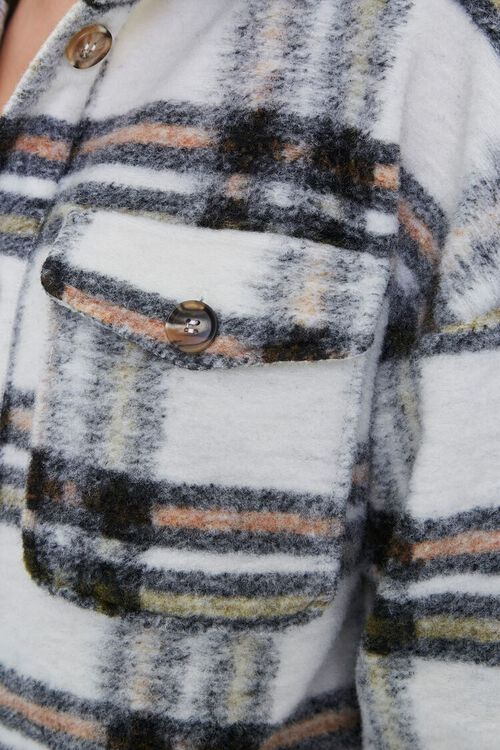 Brushed Plaid Longline Jacket, image 5