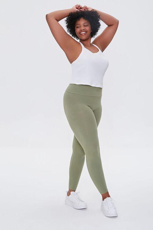 OLIVE Plus Size Basic Organically Grown Cotton Leggings, image 1