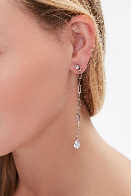 Faux Gem Duster Earrings, image 1