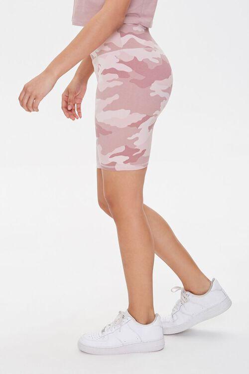 Active Camo Print Biker Shorts, image 2