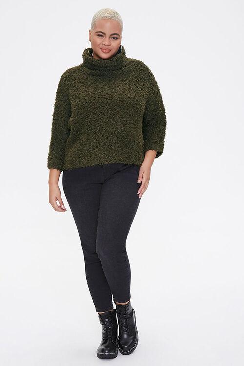 Plus Size Boucle Turtleneck Sweater, image 4