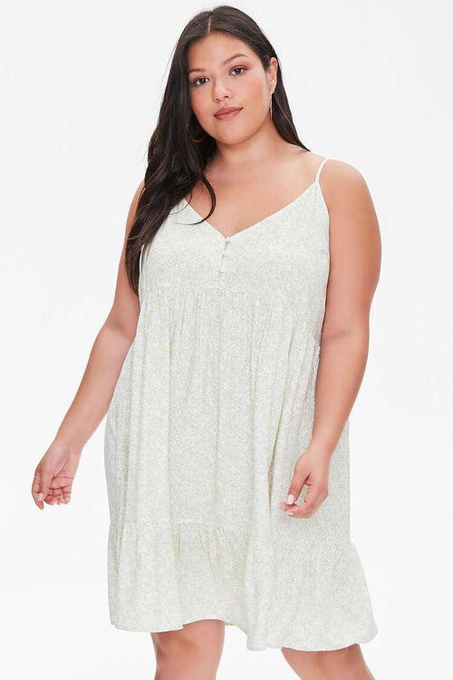 Plus Size Floral Cami Mini Dress, image 1