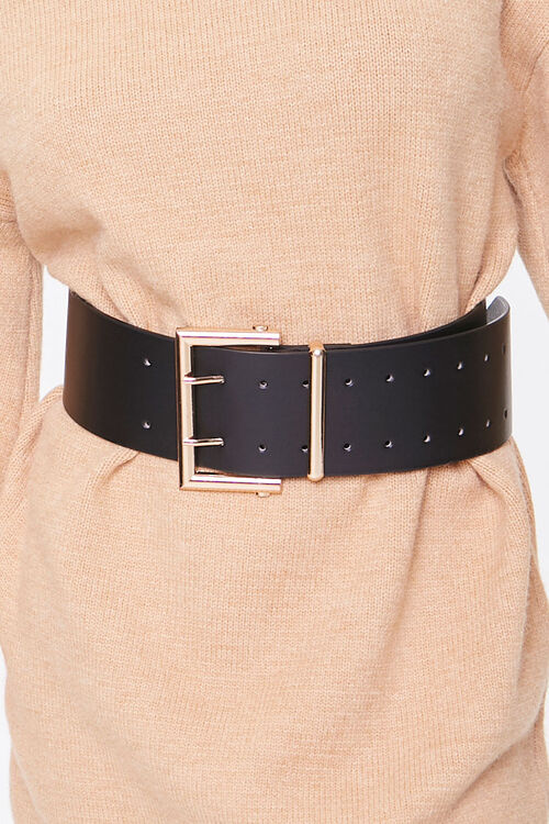 Wide Faux Leather Waist Belt, image 1