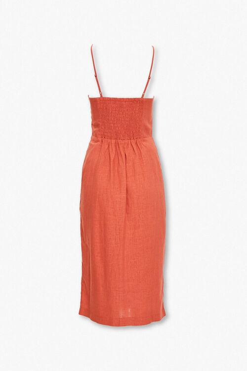 Linen-Blend Surplice Cami Dress, image 3