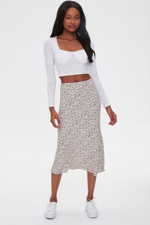 Spotted Print Midi Skirt, image 5