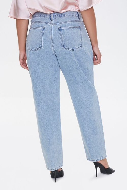Plus Size Darted Straight-Leg Jeans, image 4