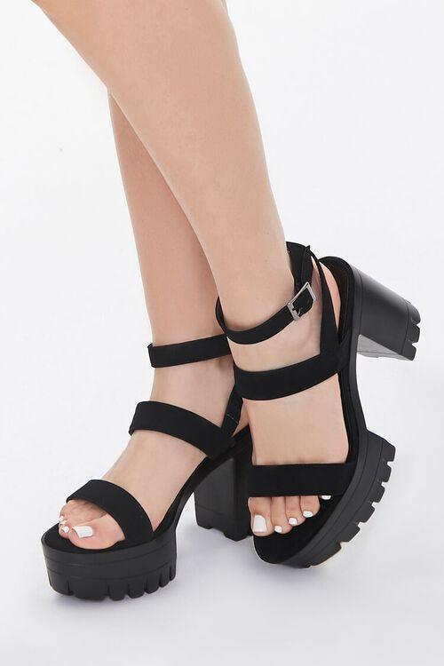 Strappy Platform Block Heels, image 1