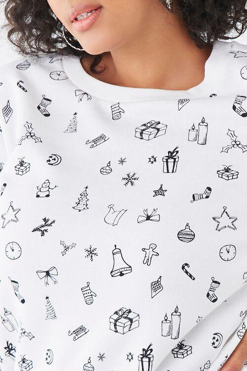 Plus Size Christmas Print Sweatshirt, image 5