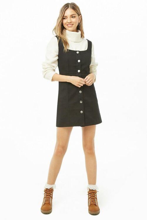 Button-Front Square Neck Dress, image 4