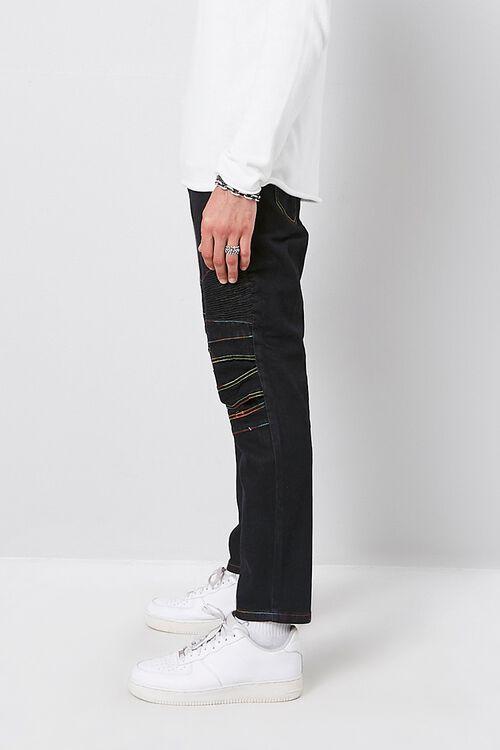Rainbow Thread Skinny Moto Jeans, image 2