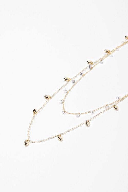 CZ Stone Heart Necklace Set, image 2