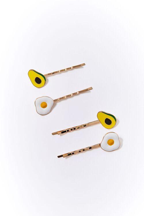 Avocado & Egg Bobby Pin Set, image 1