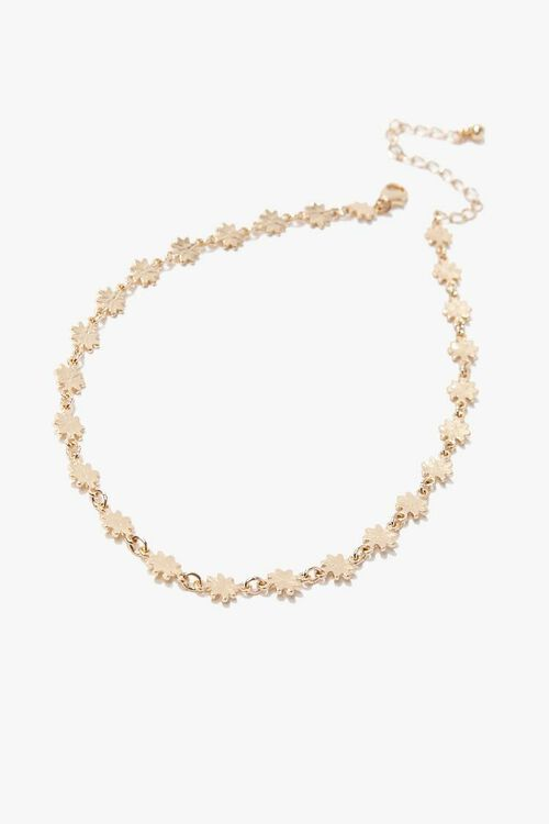 GOLD Daisy Chain Choker Necklace, image 2