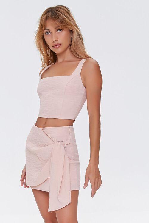 Overlay O-Ring Mini Skirt, image 1