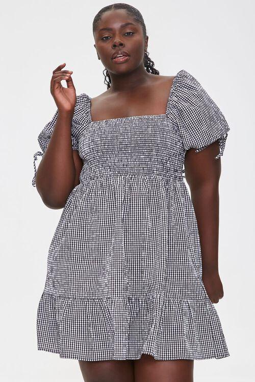Plus Size Gingham Mini Dress, image 5