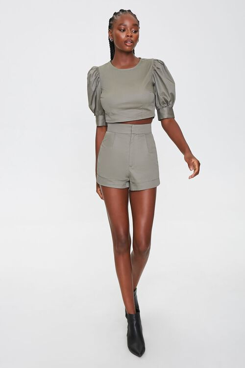 Puff Sleeve Top & Shorts Set, image 4
