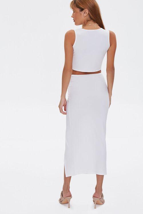 Crop Top & Midi Skirt Set, image 4