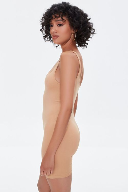 CAMEL Fitted Square-Neck Romper, image 3