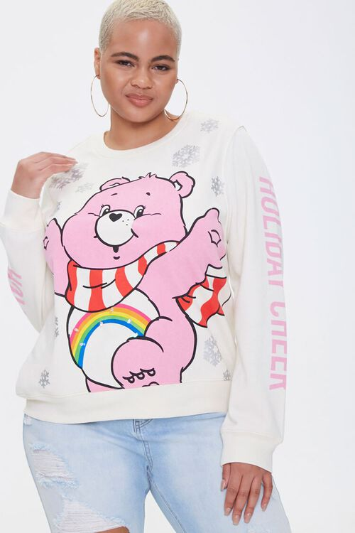 Plus Size Cheer Bear Light-Up Pullover, image 1