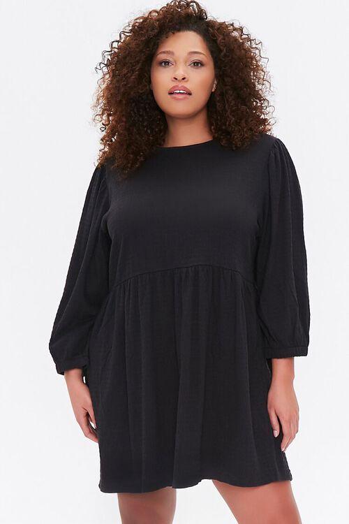 Plus Size Textured Mini Dress, image 1