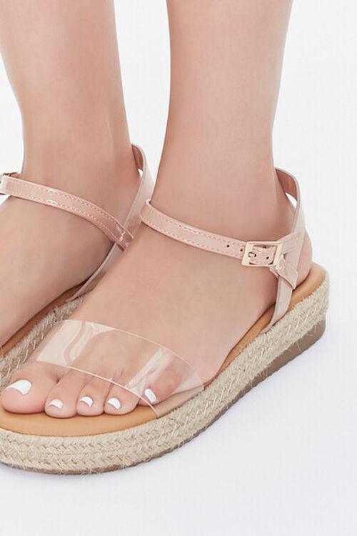 Clear-Strap Espadrille Flatform Sandals, image 5