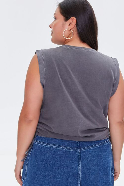 Plus Size Disconnect Muscle Tee, image 3