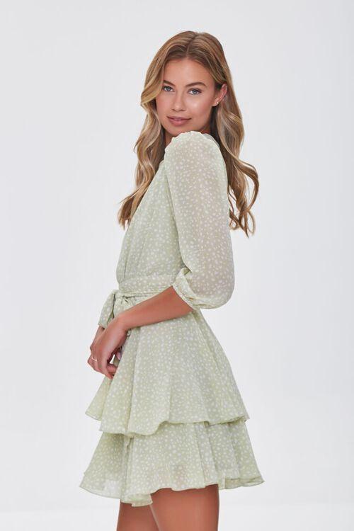 Dotted Chiffon Mini Dress, image 2